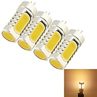 5W G4 LED Corn Lights T 4 leds COB Decorative Warm White 400-450lm 3000K DC 12 AC 12V