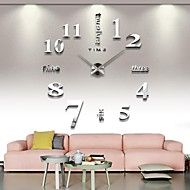 cheap Wall Clocks-Modern/Contemporary Stainless Steel Round Novelty Indoor/Outdoor,AA Wall Clock