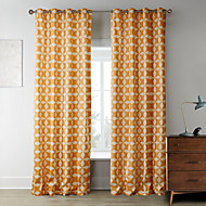 billige Gardiner-Stanglomme Propp Topp Fane Top Dobbelt Plissert To paneler Window Treatment Designer , Trykk Soverom Polyester Materiale Hjem Dekor