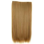 5 klipler saç parça ile saç uzatma 24 inç 120g uzun sentetik düz klip