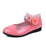 cheap Girls' Shoes-Girls' Shoes Leatherette Summer Mary Jane Comfort Satin Flower Sparkling Glitter Magic Tape for Casual Dress Black Pink Fuchsia