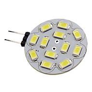 2W G4 LED-spotpærer 12 leds SMD 5730 Varm hvit Kjølig hvit 180-210lm 3500/6000K DC 12V