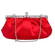 baratos Clutches & Bolsas de Noite-Mulheres Bolsas Seda Bolsa de Festa 7 Pcs Purse Set Roxo / Vermelho / Amêndoa