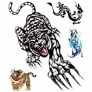 cheap Tattoo Stickers-1PC Large Big Temporary Tattoos Tiger Dragon Pattern Wedding Party Tattoos Fake Tattoos for Body Art(31*21.5CM)