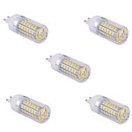 billige Bi-pin lamper med LED-YWXLIGHT® 5pcs 1500 lm G9 LED-kornpærer T 60 leds SMD 5730 Varm hvit Kjølig hvit AC 110V AC 220V