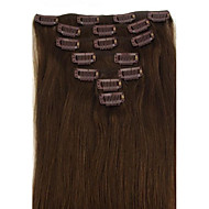 Brazilian Hair Clip In/On Hair Extension Natural Straight 18inch Many Colours For Your Choice