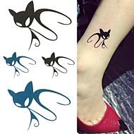 billiga Temporära tatueringar-1 pcs Tatueringsklistermärken tillfälliga tatueringar Djurserier Ministil / Slapp form Body art Kropp / skuldra / ankel / Tattoo Sticker