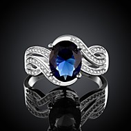 cheap Jewelry Clearance-Women's Silver plated Ring Wedding Party Elegant Feminine Style