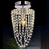 billiga Belysning-Kristall Takmonterad Glödande Metall Kristall, Ministil 110-120V / 220-240V Varmt vit / Vit Glödlampa inkluderad / E12 / E14