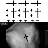 1 Tatoveringsklistremerker Totem Serier Ikke Giftig Korsryggen VanntettDame Herre Voksen Tenåring Flash-tatoveringmidlertidige
