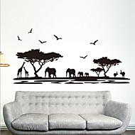 preiswerte -Umwelt abnehmbaren afrikanischen Savanne pvc-Tags& Aufkleber