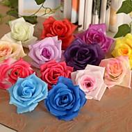 6 deler 1 Gren Silke Plastikk Roser Bordblomst Kunstige blomster