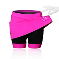 cheap -SPAKCT Women's Cycling Skirt Bike Shorts / Skirt / Padded Shorts / Chamois 3D Pad, Breathable, Compression Solid Colored, Patchwork,