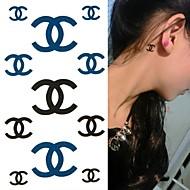 billiga Temporära tatueringar-1 pcs Tatueringsklistermärken tillfälliga tatueringar Totemserier Professionell / Klassisk Body art Kropp / arm / handled / Tattoo Sticker