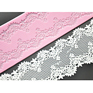 Vier c Kuchen Spitzenmatte Silikonform Kuchendekorationsmaterial, Silikonmatte Fondantkuchen Werkzeuge Farbe Rosa
