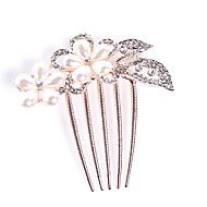 cheap Wedding Headpieces-Crystal Fabric Alloy Tiaras Hair Combs 1 Wedding Special Occasion Party / Evening Casual Office & Career Outdoor Headpiece