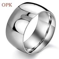 Titanium Staal - Bandringen - Ringen - voor Bruiloft/Feest/Dagelijks/Causaal/Sport - 1pc