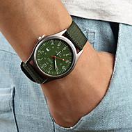 Homens Relógio de Pulso Quartzo Calendário Tecido Banda Preta Marrom Verde