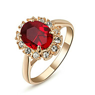 Vallomás gyűrűk Kristály utánzás Ruby utánzat Diamond utánzat Diamond Ötvözet Születési kövek Klasszikus ÉkszerekEsküvő Parti Napi