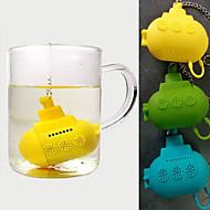 infusor de chá bonito submarino silicone (cor aleatória)