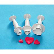 quatro c conjunto cortador de bolo doce coração decoração êmbolo, cortadores de projeto do bolo, equipamentos bolo classic / ferramentas