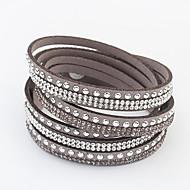 cheap Group Buy Saturday-Women's Long Wrap Bracelet - Rhinestone Ladies, European, Fashion Bracelet Jewelry Red / Green / Blue For Daily