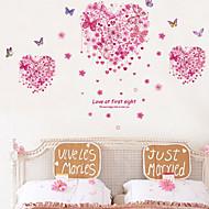 billiga Väggklistermärken-Djur Romantik Blommig Väggklistermärken Holiday väggdekaler Dekrativa Väggstickers, Vinyl Hem-dekoration vägg~~POS=TRUNC Vägg