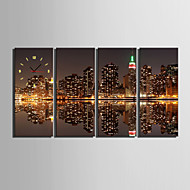 billige Veggklokker-e-home® bybildet klokke i canvas 4pcs