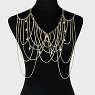 Kadın Vücut Mücevheri Vücut Zinciri / Belly Chain alaşım Eşsiz Tasarım Moda Mücevher Altın Mücevher Parti 1pc