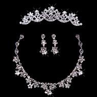 billiga Brudsmycken-Dam Silver Smyckeset - Omfatta Silver Till Bröllop Speciellt Tillfälle Årsdag Födelsedag Förlovning Gåva
