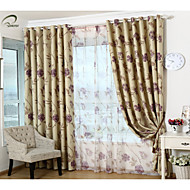 landet curtains® ett panel lilla blomster blackout gardin
