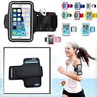 billiga Mobil cases & Skärmskydd-fodral Till iPhone 6s Plus iPhone 6 Plus iPhone 6s iPhone 6 Universal med fönster Armbindel Armband Ensfärgat Mjukt Textil för