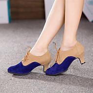 billige Moderne sko-Dame Moderne sko Semsket lær / Kunstlær Høye hæler Spenne Kubansk hæl Kan ikke spesialtilpasses Dansesko Kongeblå