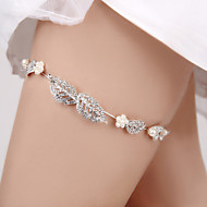 cheap Wedding Garters-Senior Emulation Silk Fashion Wedding Garter with Rhinestone Ribbons Garters