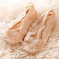 Tanke Žene Čarape Čipka Žakard Crn Bež Sive boje Pink