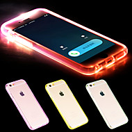 cheap -For iPhone 6 Case / iPhone 6 Plus Case LED Flash Lighting / Transparent Case Back Cover Case Solid Color Soft TPUiPhone 6s Plus/6 Plus /