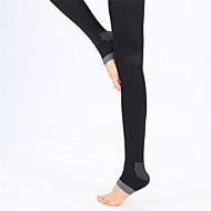 billige -Dame Uden ærmer Komprimering letvægtsmateriale Sokker Kompressionssokker for Yoga Træning & Fitness Fritidssport Løb Nylon Elastin Sort
