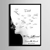 E-HOME® Personalized Signature Canvas Frame-Kiss (Includes Frame)