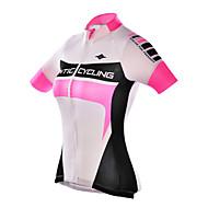 SANTIC Žene Kratkih rukava Biciklistička majica - Pink Bicikl Biciklistička majica, Ultraviolet Resistant, Prozračnost Poliester