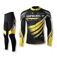 SPAKCT Pentru bărbați Mânecă Lungă Bicicletă Set de Îmbrăcăminte Uscare rapidă Purtabil Respirabil 100% Poliester Primăvara Toamnă