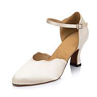 billige Moderne sko-Dame Moderne sko Velourisert Sandaler Spenne Kubansk hæl Kan ikke spesialtilpasses Dansesko Beige / Innendørs / Profesjonell