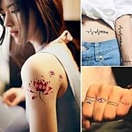 billiga Temporära tatueringar-15 Ogiftig Mönster Djurserier Blomserier Annat Tatueringsklistermärken