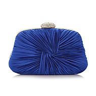 baratos Clutches & Bolsas de Noite-Mulheres Bolsas Poliéster Bolsa de Festa Cristal / Strass Prata / Roxo / Azul / Sacolas de casamento