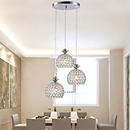cheap Pendant Lights-Chandelier Pendant Light Ambient Light - Crystal Mini Style LED, Tiffany Rustic / Lodge Globe Drum Traditional / Classic Modern /