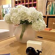 1 Afdeling Polyester Hortensiaer Bordblomst Kunstige blomster