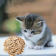 猫用おもちゃ ペット用おもちゃ ボール型 耐用的 織物 竹