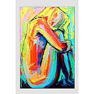 Oil Painting Modern Figure Style , Canvas Material with Stretched Frame Ready To Hang SIZE:60*90CM.