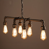 Edison Retro Loft Style Vintage Industrial Pendant Light Lamp Metal Water Pipe,Luminaire Lampara Colgantes