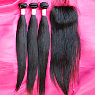 Hot Sale Brazilian 12-26inch Virgin Hair Bundles With Closure