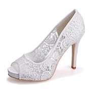 Sandaletler - Düğün / Parti ve Gece - Burnu Açık - Siyah / Pembe / Ekru / Beyaz - Kadın - Düğün Ayakkabı